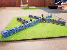 28mm Painted Resin Walls, Terrain, Bolt Action, WWII, Kings of War, Warhammer