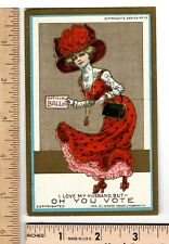 Suffrage Post Card1909 Suffragette Series #12 I Love My Husband but OH YOU VOTE