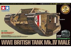 WWI British tank Mark Mk.IV Male - 1:35 RC Tank Assembly Kit 48214 by Tamiya