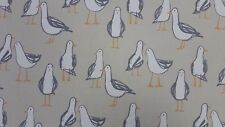 Clarke and Clarke Laridae Taupe Seagulls Curtain Craft Upholstery Fabric
