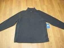 STARTER. Men's BLACK 1/4 Zip Winter Fleece Jacket Straight Hem. XL(46-48) nwt