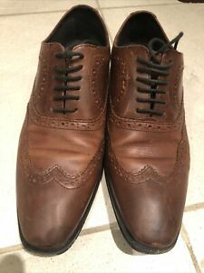 Mens Clarks leather shoes brown size 7.5