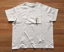 New Mens EDDIE BAUER White Pocket Basic T Shirt Sz 2XL XXL