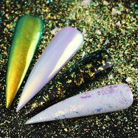 Chamäleon Neon Nagel Glitzer Pailletten Spiegel Nail Pigment Powder BORN PRETTY