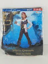 Captain Jack Sparrow Pirates of The Caribbean Halloween Costume Boys 4-6
