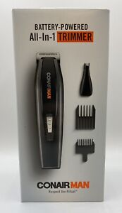 Conair Man All-in-1 Battery Operated Beard Mustache Ear Nose Trimmer GMT175RD