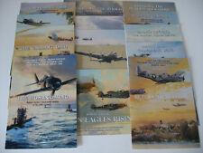 Robert Taylor 14 Aviation Art Advertising Flyers Brochures Spitfire P-51 Me262