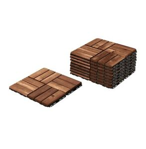 IKEA RUNNEN Outdoor Decking Solid Wood - Brown, Pack Of 9 Pieces, 8.72 SF total