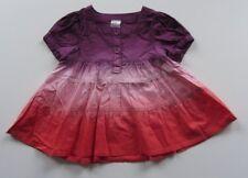 Kleid Sommer leicht Batikoptik 100%Baumwolle Kurzarm Gr. 80 Mädchen MARKE *450