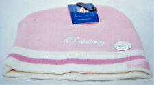 More details for miami dolphins reebok beanie hat, pink with white trim