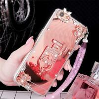 Luxury Women Bling Perfume ring holder stand Slim Soft Case For Samsung Galaxy 2