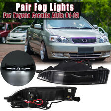 Pair LED Front Bumper Fog Light Lamp Assembly For Toyota Corolla Altis
