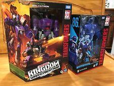 LOT (2) Transformers WFC Kingdom Galvatron & 86 Movie Studio Series Scourge NEW