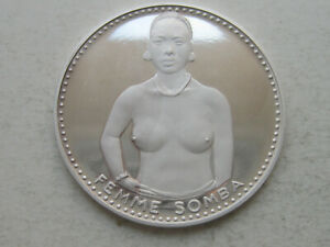 "Republic of Benin Dahomey Proof Coin 1000 francs 1971, Femme ""Somba Woman"""
