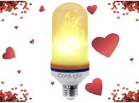Flame Light Bulb LED Compatible Fire Effect Torch Light Realistic Romantic Cozy
