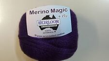 Heirloom Merino Magic 4 Ply #515 Royal Purple 100% Wool