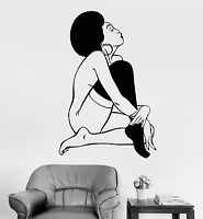 Vinyl Wall Decal Sexy Lady Black African Woman Naked Stickers (1061ig)
