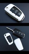 Für Audi Klapp Schlüssel Cover Key Cover Schlüssel Funk Fernbedienung Weiss-