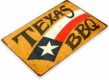 Texas Barbecue Retro Tin Metal Sign