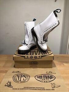 NPS SOLOVAIR White 14 Eye Derby Boot! SizeUK6! New! Only