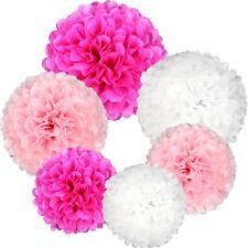 Jpsoe 21Pcs Paper Pom Poms Pink Set Flower Ball for Wedding Party Decoration