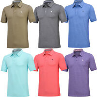 Men's Athletic Classic Polo Shirt Slim Fit Golf Shirt Short Sleeve Stretch Top