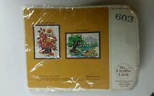 SEALED Vintage The Creative Circle 603 Wildwood Bouquet Craft Kit Crewel