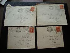 FRANCE - 4 enveloppes 1933/1934 (FM) (cy73) french