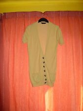 YELLOW SHORT SLEEVE CARDIGAN BY DOROTHY PERKINS SIZE 8