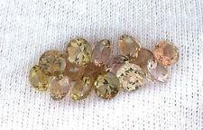 ONE AAA 5mm Round Golden Peach Green Pink Tourmaline Gem Stone Gemstone EBS7533
