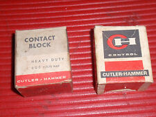 2 VINTAGE ELECTRICAL CONTACT BLOCKS CUTLER - HAMMER PART #3030A & 10250 T3