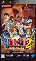 USED PSP  konami fairy tail: portable Guild 2 sony playstation