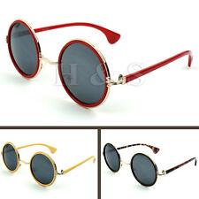 Steampunk Sunglasses 50 S Round Glasses Cyber Lunettes Rétro Vintage Style Hippy un