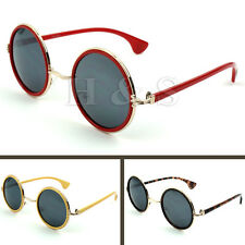 Steampunk Sunglasses 50s Round Glasses Cyber Goggles Vintage Retro Style Hippy A