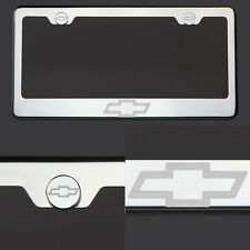 T304 Chrome Polished Chevy Chevrolet Logo Laser Etched license Plate Frame Tag