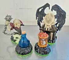 Lot Pack 4 Figurines SKYLANDERS SPYRO'S ADVENTURE Darklight Ghost Roaster Crypt