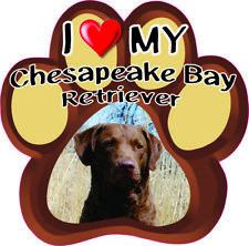 "I Love My ""Chesapeake Bay Retriever"" Bumper Sticker #215"