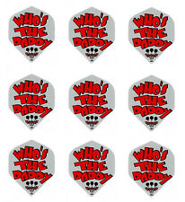 Ruthless Grey Who's Your Daddy Standard Dart Flights Micron-3 sets(9 flights)