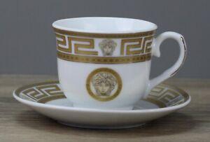 Da Vinci Collection Medusa Gold Espressotasse mit Untertasse/Unterteller Tasse