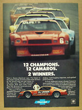 1978 chevy Camaro Z28 IROC Race Cars Al Unser car photo vintage print Ad