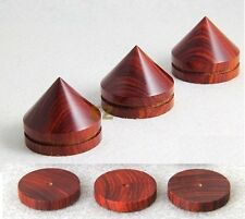 8x Rosewood Wooden Spike Isolation Kit Cone & 8 x Base AMP Speaker Hifi Diy R8