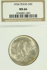 1934 Texas Commemorative Half Dollar : NGC MS66