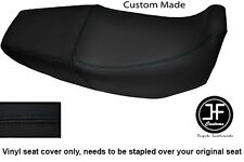 Vinilo negro automotriz Personalizado SE AJUSTA a HONDA Xr 125 03-12 Dual Cubierta de asiento solamente