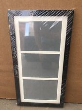 """28""""x13"""" black picture frame with multi mount to fit 3 A4 certificates or prints"""
