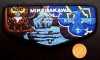 MIKANAKAWA LODGE OA 101 CIRCLE TEN COUNCIL TX 56 209 PATCH 2009 NOAC OWL FLAP