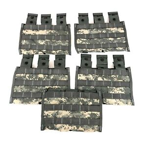 5 ACU Triple Magazine Pouch, MOLLE Military Tactical Camo Mag Pouches USGI Army