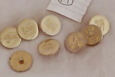 8 PCs OLD VINTAGE BEAUTIFUL DESIGN UNIQUE LOOK METAL COAT BUTTON 14