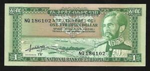 Etheopia - 1 Dollar Note (1966) P25a - Uncirculated