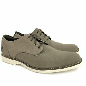 TIMBERLAND MEN'S WOODHULL SHOE MEMORY FOAM OLIVE CANVAS OXFORD SHOES A1UZ3