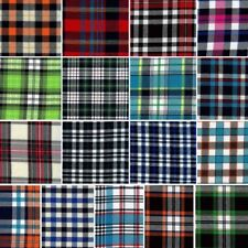 Brushed Polycotton Fabric Tartan Check Plaid 145cm Wide